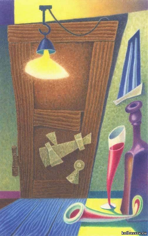 Ожиданиебумага, акварель, 22х13,5см., 2003г.